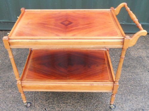 Pale Mahogany Two Tier Tea Trolley
